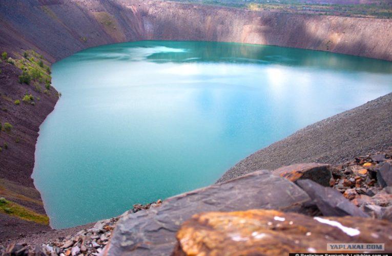 Уникальное черное озеро в Кривом Роге