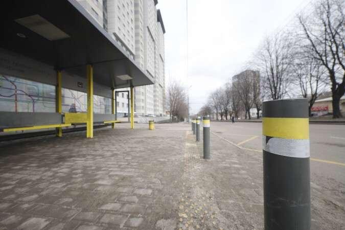 В Днепре установили остановки общественного транспорта с защитой